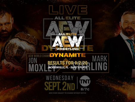 AEW Dynamite Results for September 2, 2020