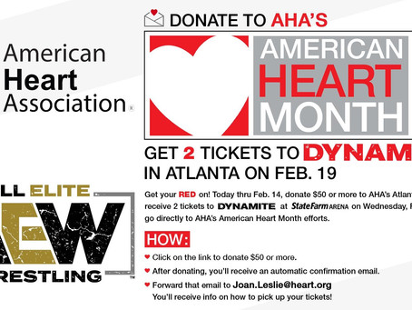 AEW Teams With American Heart Association In Atlanta For Heart Health Initiative
