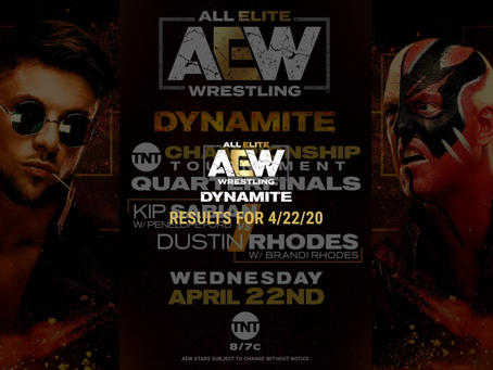 AEW DYNAMITE Results for April 22, 2020