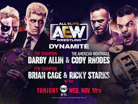 AEW Dynamite Preview for November 18, 2020