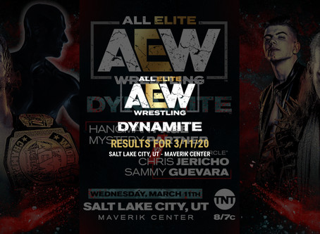 AEW DYNAMITE Results for March 11, 2020