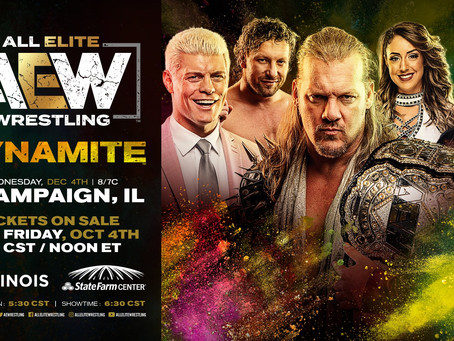 AEW: Dynamite Coming To Champaign This December