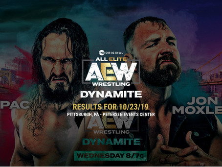 AEW DYNAMITE Results October 23, 2019
