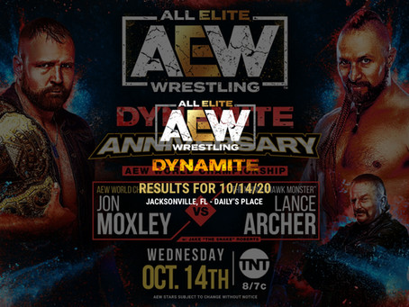 AEW Dynamite Results for October 14, 2020