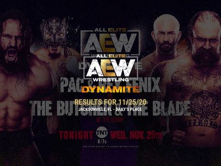 AEW Dynamite Results for November 25, 2020