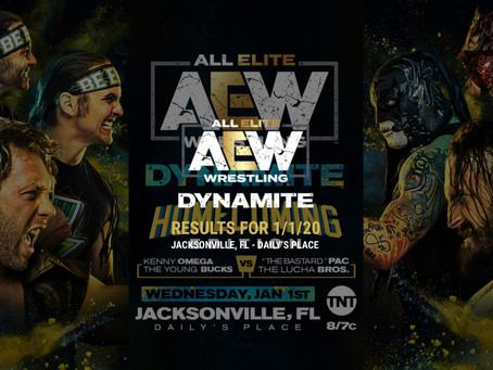 AEW DYNAMITE Results January 1, 2020