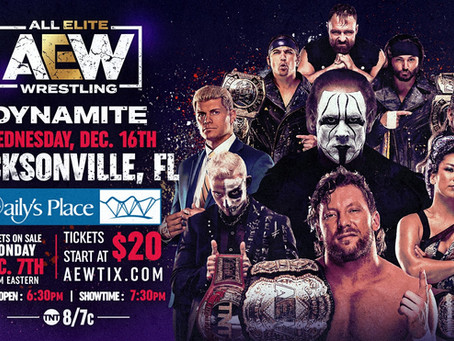 Tickets On Sale This Monday for AEW Dynamite: December 16th Episode Live in Jacksonville