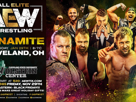 AEW DYNAMITE Comes To Cleveland January 29th. Tickets On-Sale Now!