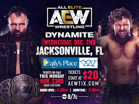 Tickets On Sale This Monday for AEW Dynamite: December 2nd Episode Live in Jacksonville