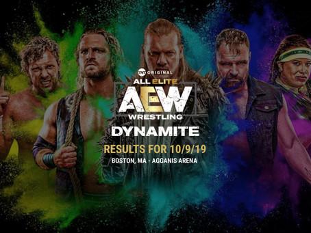 AEW DYNAMITE Results 10/09/2019