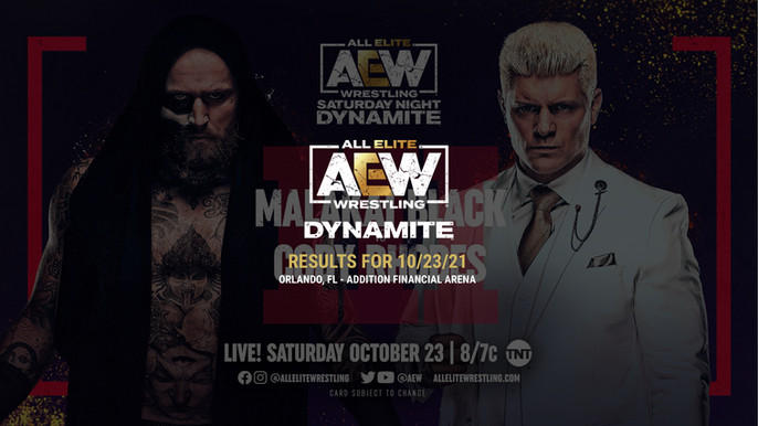 AEW Dynamite Results for October 23, 2021