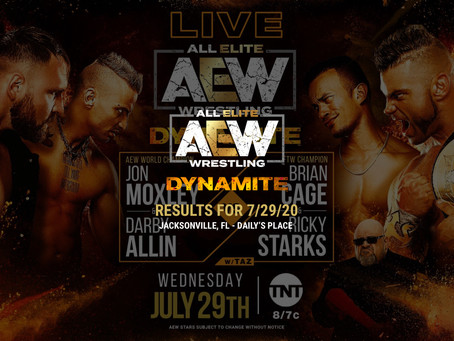 AEW DYNAMITE Results for July 29, 2020