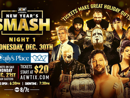 Tickets On Sale This Monday for AEW Dynamite: New Year's Smash Night 1