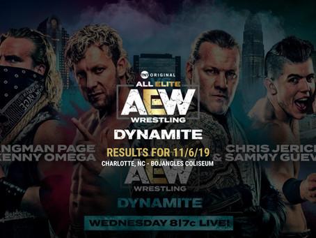 AEW DYNAMITE Results November 6, 2019