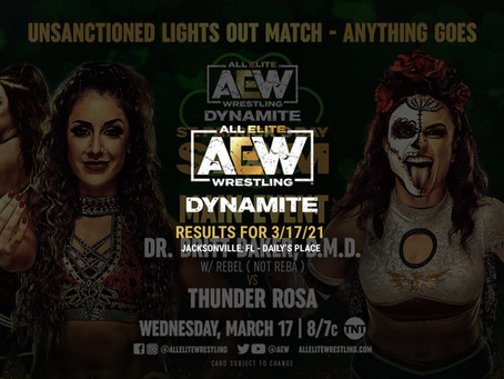 AEW Dynamite: St. Patrick's Day Slam Results for March 17, 2021