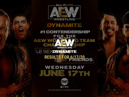 AEW DYNAMITE Results for June 17, 2020