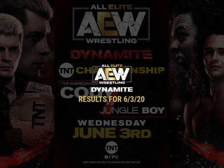 AEW DYNAMITE Results for June 3, 2020
