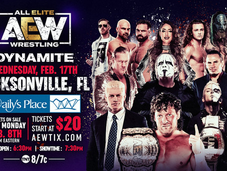 Tickets On Sale This Monday for AEW Dynamite February 17th Episode