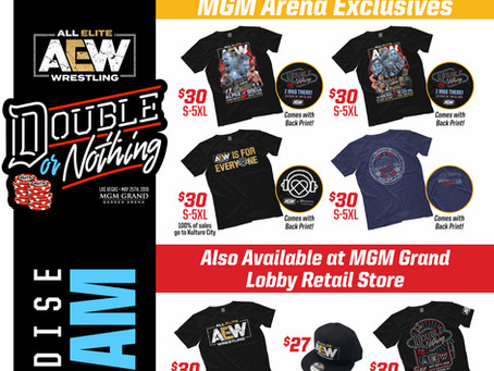 Double Or Nothing Merch Preview