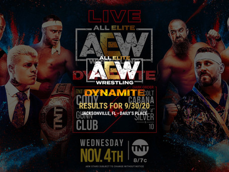 AEW Dynamite Results for November 4, 2020