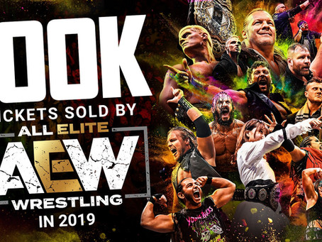 AEW Reaches 100,000 Live Event Tickets-Sold Milestone in Inaugural Year