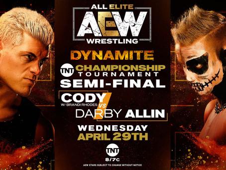 AEW DYNAMITE Preview for April 29, 2020