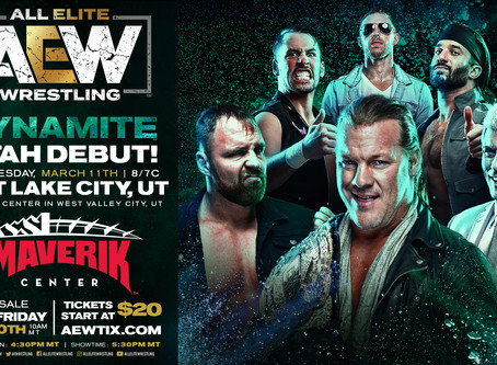 AEW DYNAMITE Comes To Salt Lake City March 11th. Tickets On-Sale This Friday!