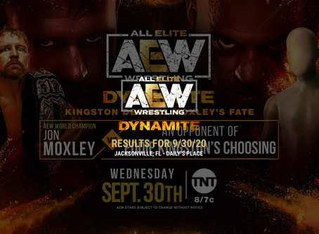 AEW Dynamite Results for September 30, 2020