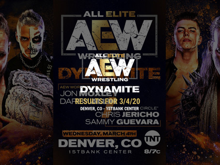 AEW DYNAMITE Results for March 4, 2020
