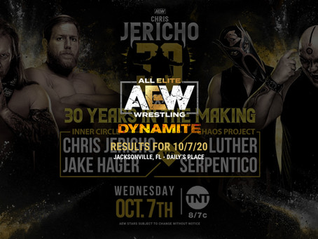 AEW Dynamite Results for October 7, 2020
