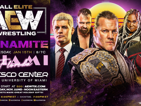 AEW DYNAMITE Coming To Miami January 15th. Tickets On-Sale Next Friday.