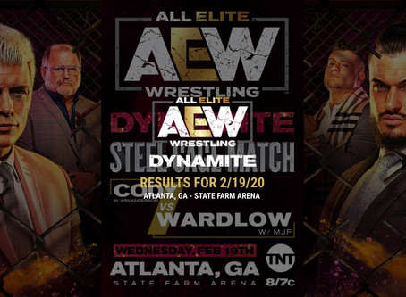 AEW DYNAMITE Results for February 19, 2020