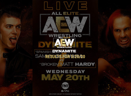 AEW DYNAMITE Results for May 20, 2020