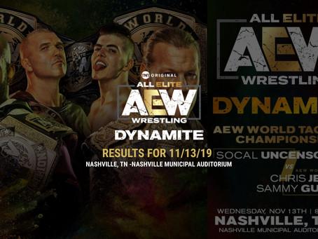 AEW DYNAMITE Results November 13, 2019