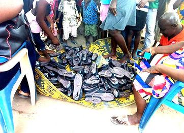 Heart for Human Development shoe donation to the needy