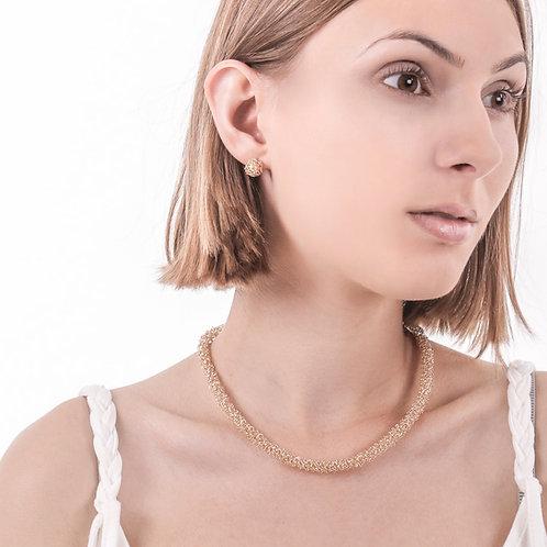 Vine gold necklace