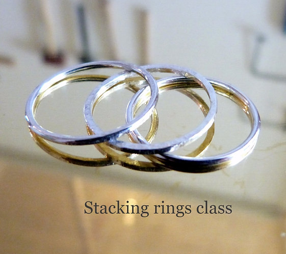 Make 3 stacking rings in Sterling silver