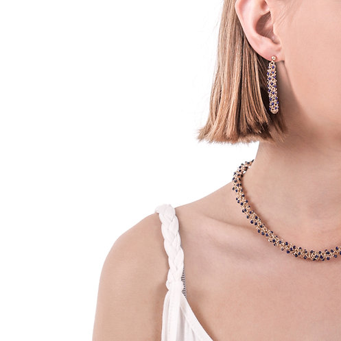 Lapislazuli gold earrings