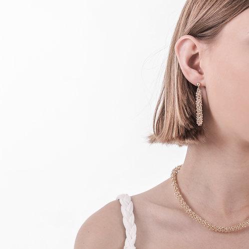 Vine gold earrings