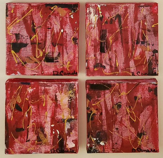 """""""RED BLISS"""" 1,2,3 4"""