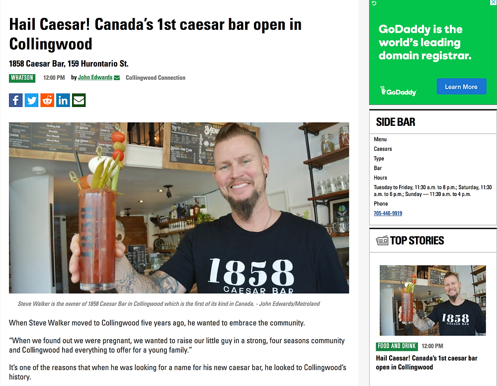 Steve Walker owner of 1858 Caesar Bar