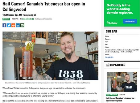 Hail Canada's First! 1858 Caesar Bar