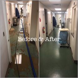 Flood Damage Before & After