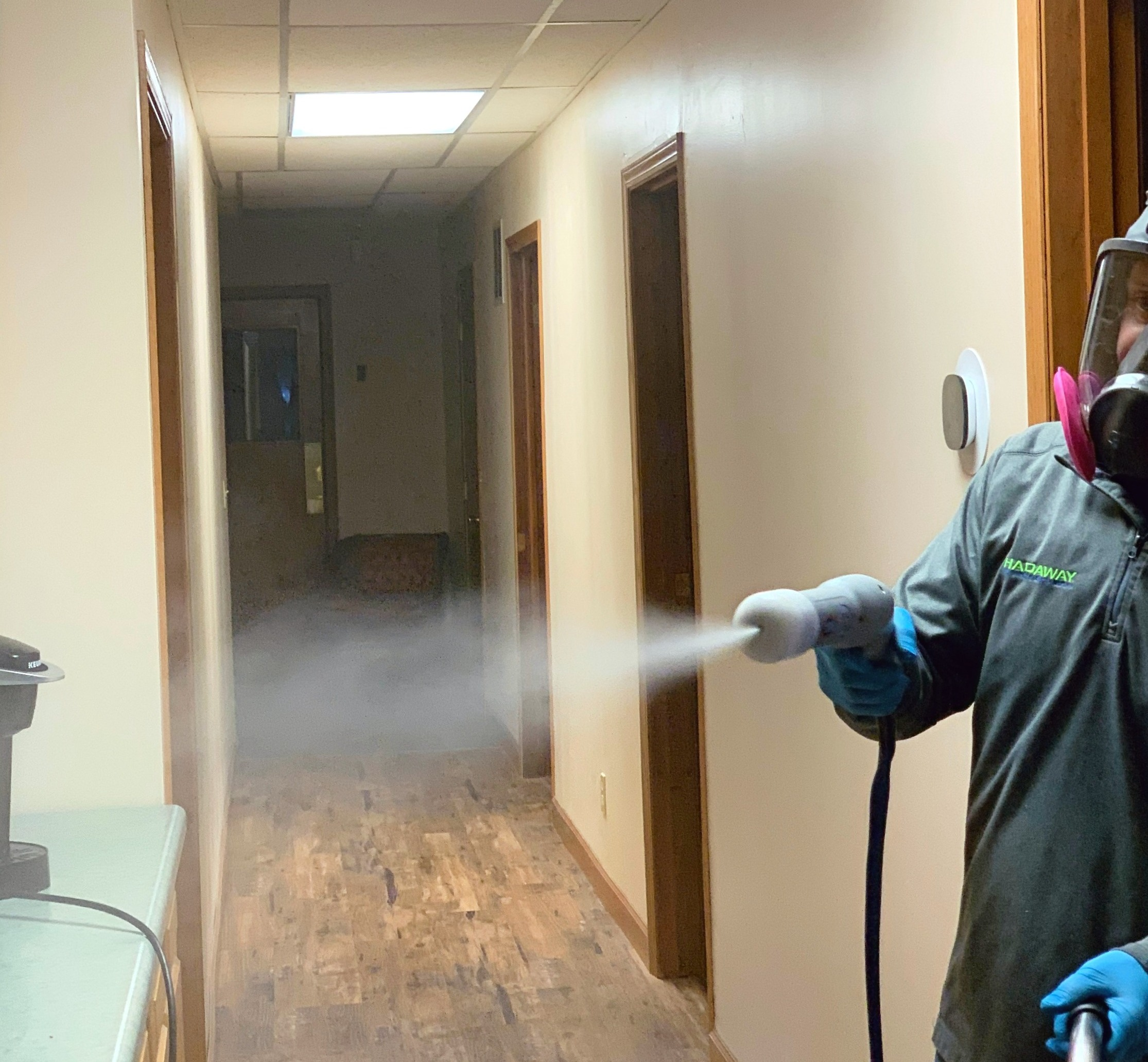 Covid 19 spraying cleaning