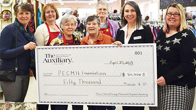PECMH Auxiliary donation April 24, 2019.
