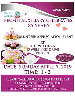 VOLUNTEER APPRECIATION EVENT APRIL 7, 20