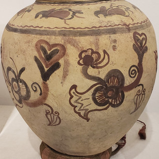 Antique Hand Painted Pot from the Moluccan Islands