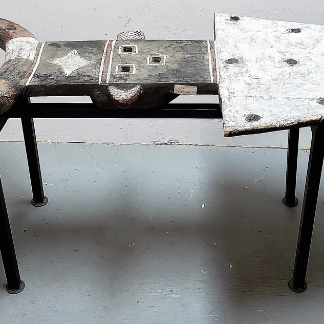 Songwe Mask Table on Metal Stand