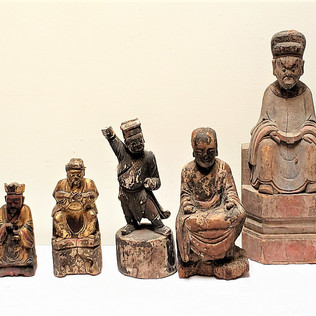 Antique Chinese Figurines circa  Early 1
