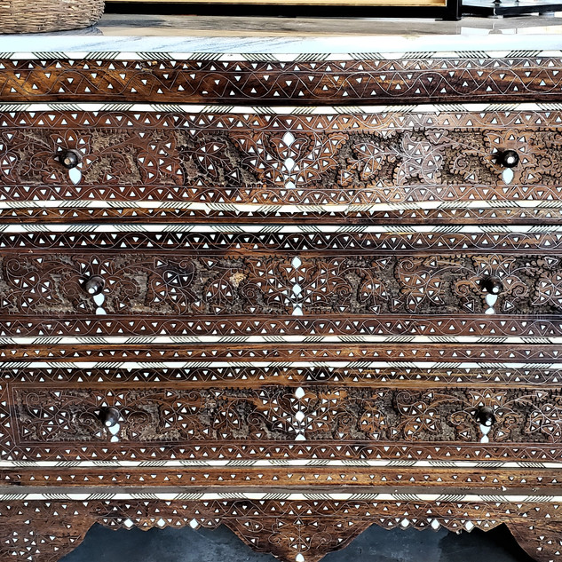 Moroccan Drawers with Bone Inlay